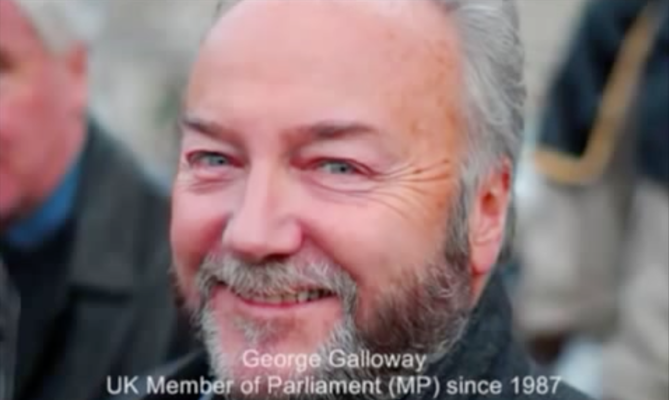 George Galloway - Again, What right did Britain have to grant you